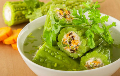 Pork stuffed bitter cucumber – traditional food in Vietnamese's Tet
