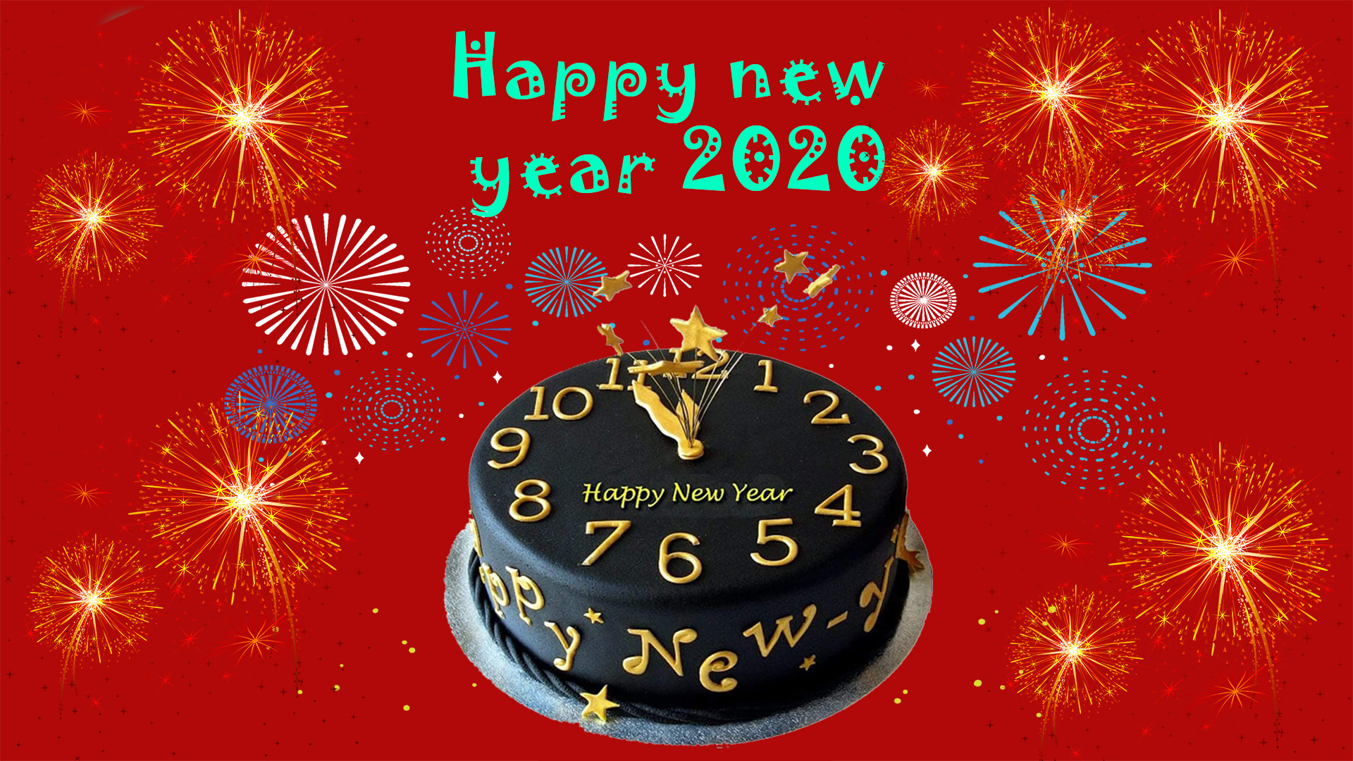 Image Happy New Year 2020 is beautiful number 17