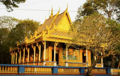 The Bat Pagoda a place of worship for devout Buddhists in Mekong