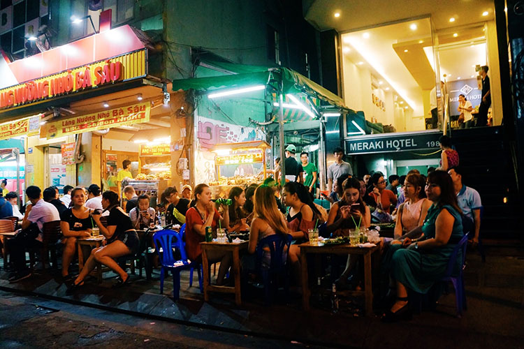 Bui Vien beer street, Saigon's backpacker Mecca, is again buzzing