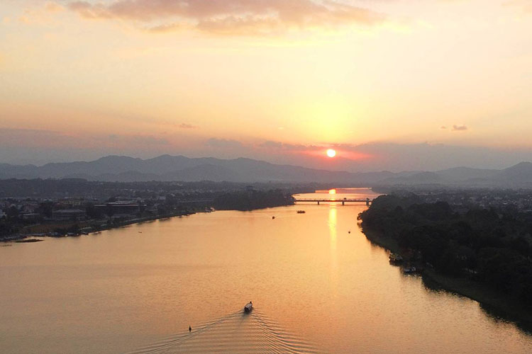 Vietnam's former imperial capital Hue is an enchanting sight at sunset