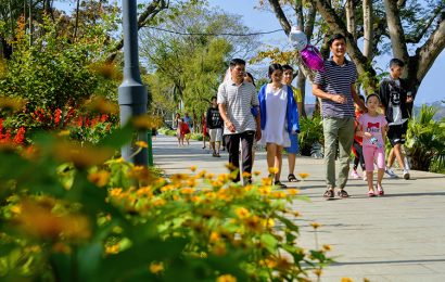 Locals in Hue head for paths by the iconic Perfume River to exercise daily