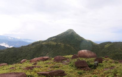 Climbing Voi Mep the tallest mountain in the central province of Quang Tri